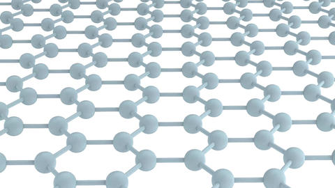 Regular Hexagonal Pattern - Graphene stock footage