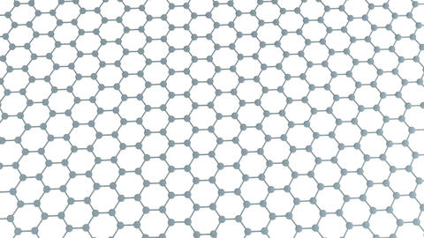 Regular Hexagonal Pattern - Graphene Stock Video Footage