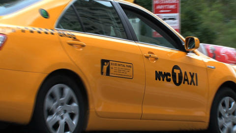 NYC taxi Stock Video Footage