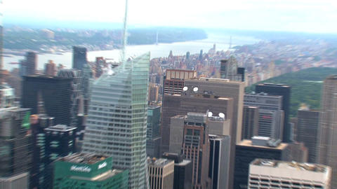 City zoom out Stock Video Footage