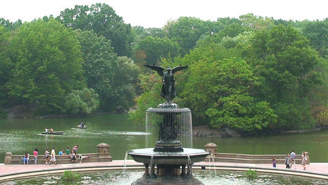 Fountain Central Park Stock Video Footage