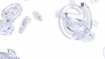 transparent glass 3D @ symbol,email Stock Video Footage