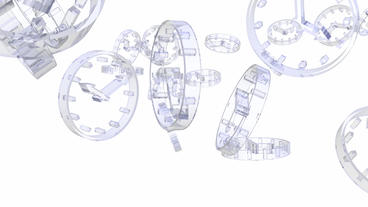 transparent glass clock Animation