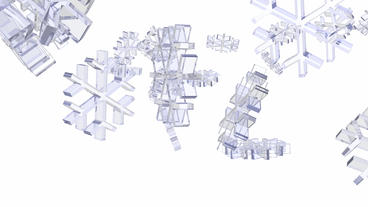 transparent snowflake falling Animation