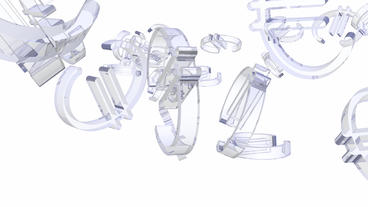 transparent glass Euro symbol Animation