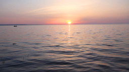 boat at sunset Stock Video Footage
