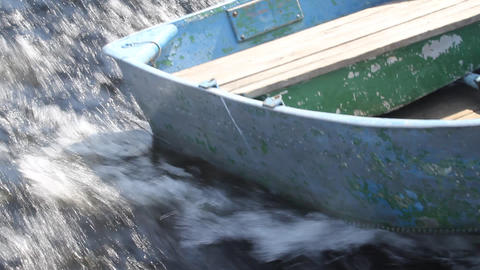 boat close up Stock Video Footage