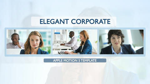 Elegant Corporate Promo - Apple Motion and Final Cut Pro X Template Apple Motion Template