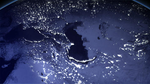 Night Earth Japan Stock Video Footage