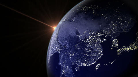 Night Earth Rotate 02 Animation