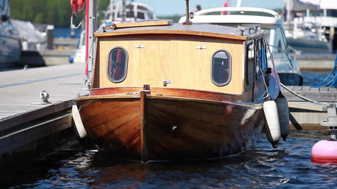 Vintage boat Stock Video Footage