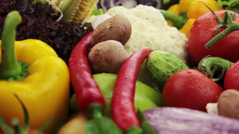 Vegetables Closeup Stock Video Footage
