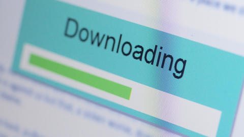 Internet Download Stock Video Footage