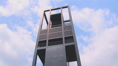 The Netherlands Carillon tiltdown Stock Video Footage