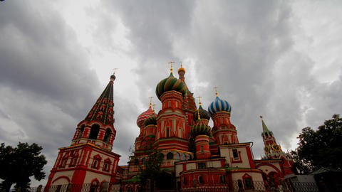 cloudy Moscow kremlin time lapse Stock Video Footage