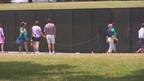 Vietnam Veterans War Memorial Stock Video Footage
