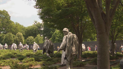 Korean War Veterans Memorial Footage