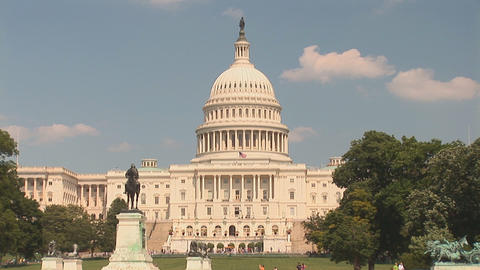 The US Capitol Building In Washington, DC stock footage