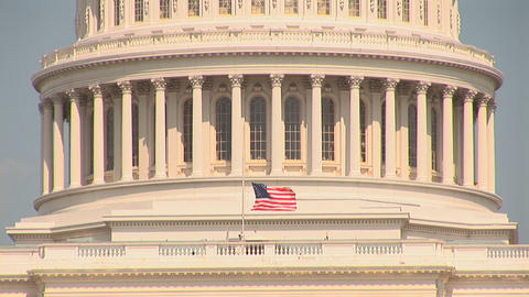 The US Capitol Building in Washington, DC Footage