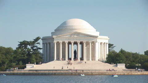 Thomas Jefferson Memorial stock footage