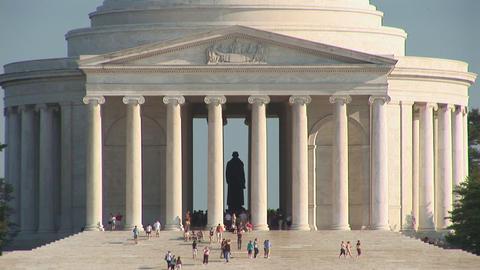 Thomas Jefferson Memorial Stock Video Footage