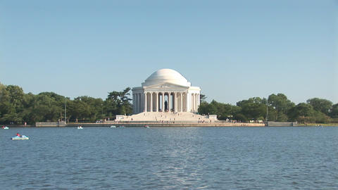 Thomas Jefferson Memorial Stock Video Footage