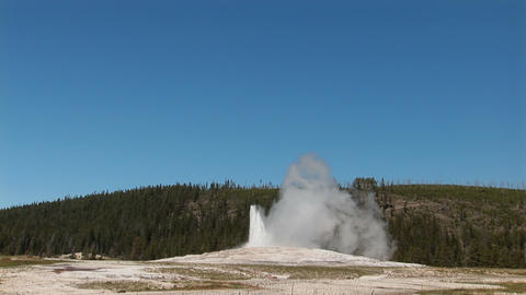 Old Faithful In Yellowstone National Park stock footage