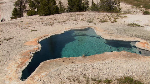 Volcanic Pool. Shot in Yellowstone National Park Stock Video Footage