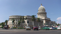 Havana Capitolio Nacional oldtimers Footage