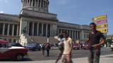 Havana Capitolio Nacional pan en tiltshot Footage