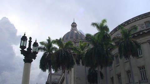 Havana Capitolio Nacional rightside Stock Video Footage