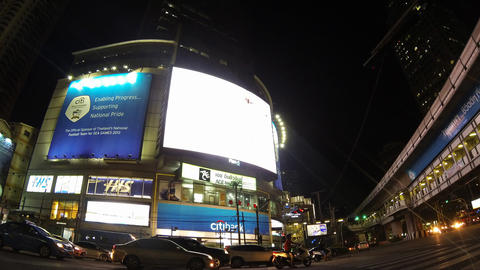 Bangkok night traffic timelapse Footage