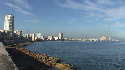 Malecón boulevard Stock Video Footage