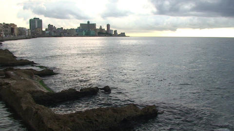Malecón boulevard seaside Footage
