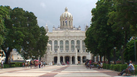 Museo de la Revolución zoom out Stock Video Footage