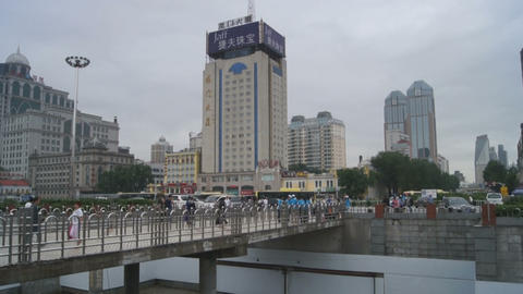Harbin Railway Station panoramic view Footage