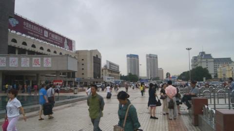 Harbin Railway Station panoramic view Stock Video Footage