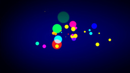 Explode of Dots for the appearance of text or logo Stock Video Footage