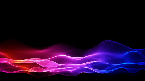 abstract colored flowing background, lower thirds Stock Video Footage