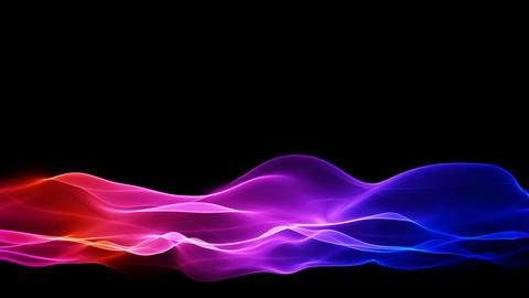 Abstract Colored Flowing Background, Lower Thirds stock footage