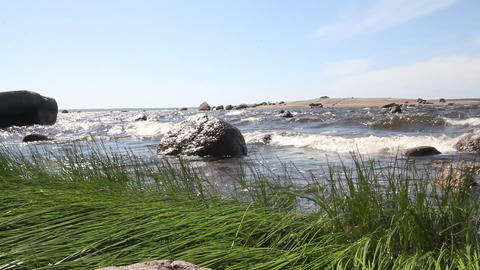 coast of the Baltic Sea 2 Stock Video Footage