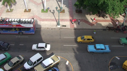 Overview from the roof tiltdown, oldtimers Stock Video Footage