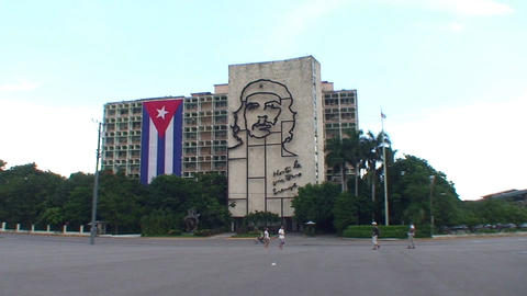 Plaza de la Revolución, Che Guevara Stock Video Footage