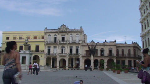 Plaza Vieja colonial buildings Stock Video Footage