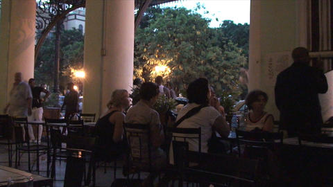 Salsa musicians 3 on terrrace part 1 of 11 Stock Video Footage