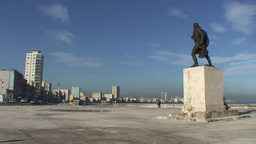 Statue at the Malecón Stock Video Footage
