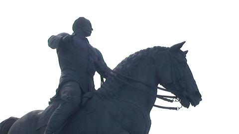 Statue of Calixto Garcia Stock Video Footage