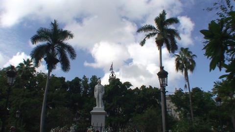 Statue of Carlos Manuel de Cépedes plaza Stock Video Footage