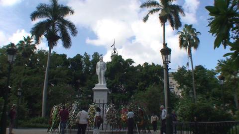 Statue of Carlos Manuel de Cépedes plaza Footage