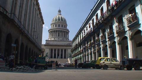 Streetview on the Capitolio Nacional Stock Video Footage